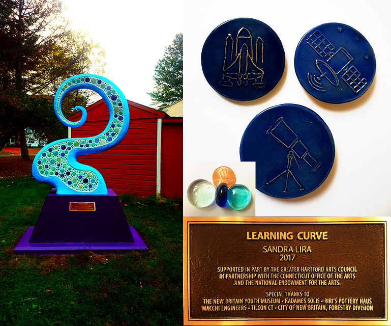 Learning Curve Sculpture by Sandra Lira, Tiles, plaque